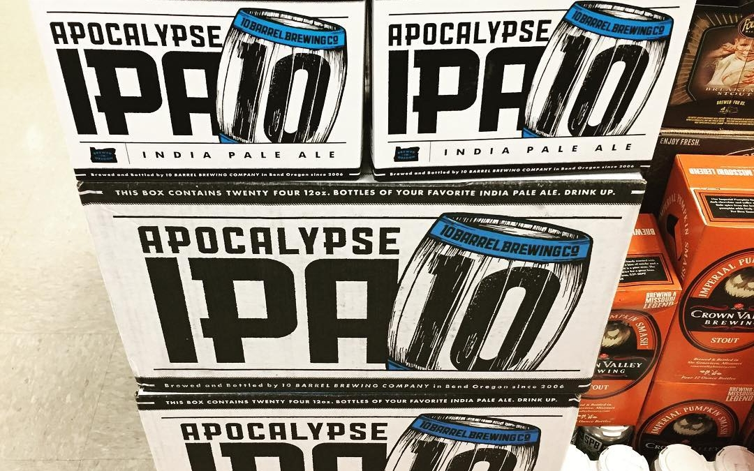 @10barrelbrewing Apocalypse IPA is now in stock at our Perkins Rd location! This is the…