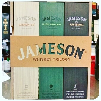 New @jamesonwhiskey gift sets at @calandrosmkt on Perkins! #jameson #irishwhiskey #strongwater #stockingstuffer