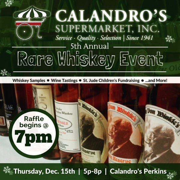 It's that time of year again! Our rare whiskey raffle will be Thursday December 15th…