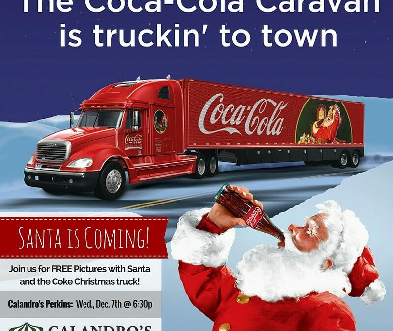 #SantaIsComing to Calandro's Perkins! TOMORROW (Wed., 12/7) from 6:30p-7:30p join us for #FREEPicsWithSanta, courtesy of…