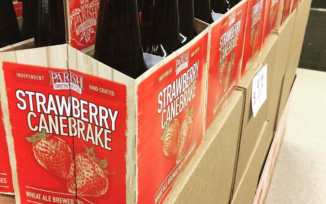 @parishbrewingco Strawberry Canebrake is stacked up and ready to go at our Perkins Rd location!…