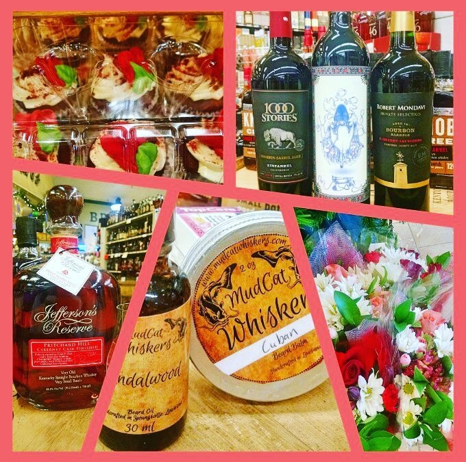 More #valentinesday treats for your sweet available now at @calandrosmkt Perkins! #beardoil #bourbonbarrelagedwine #wine #spirits…