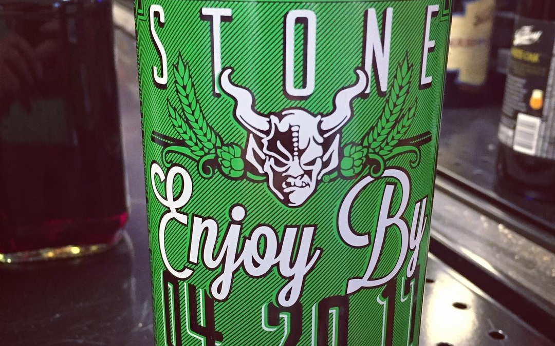 @stonebrewingco Enjoy By 4.20.17 is now available at our Perkins Rd location! #420 #green #beer…