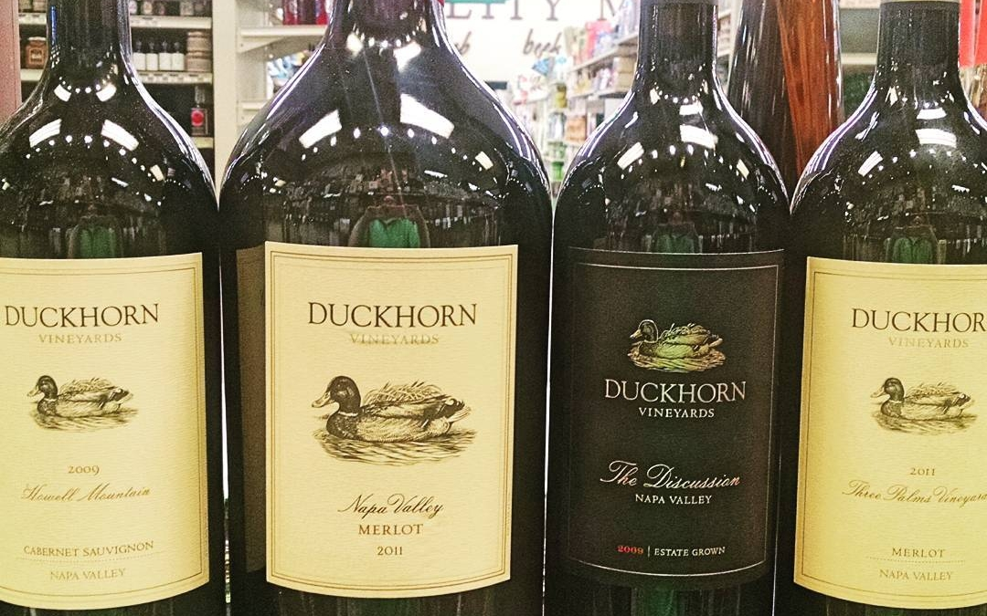 New Arrivals at our Perkins Rd location! @duckhornwine #largeformat #magnums #wine #redwine #napa