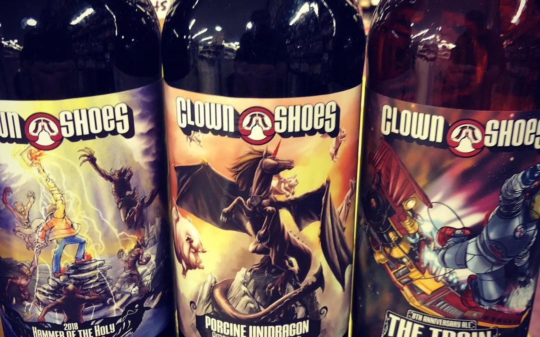 More new brews from @clown_shoes_beer available now at our Perkins Rd location including two barrel…