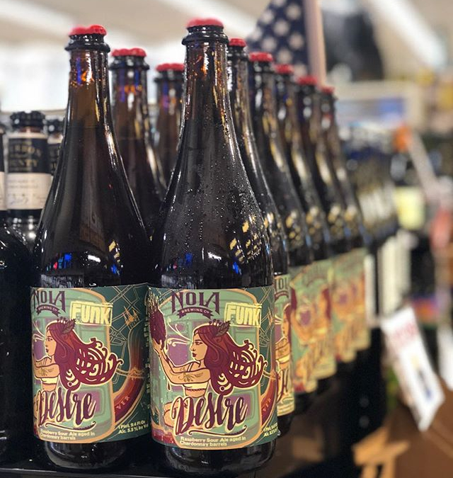 @nolabrewing Desire, Raspberry Sour Aged in Chardonnay Barrels, is now available at our Perkins Rd…