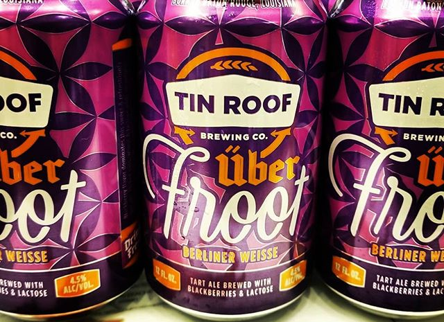 Tin Roof Uber-Froot available at our Perkins Rd location! @tinroofbeer #newbrewthursday #tinroof #berlinerweisse #sourbeer #drinklocal…