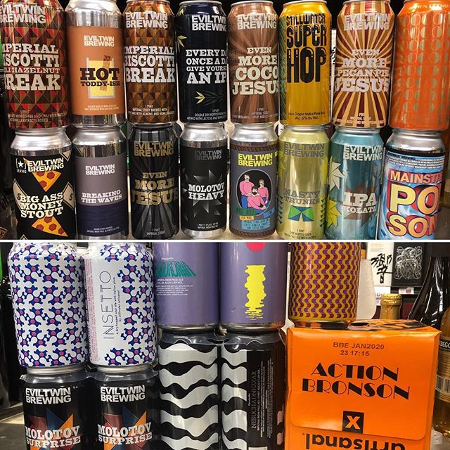 Huge @twelve_percent_imports drop at our Perkins Rd today! Come check out the new goodies! @eviltwinbrewing…
