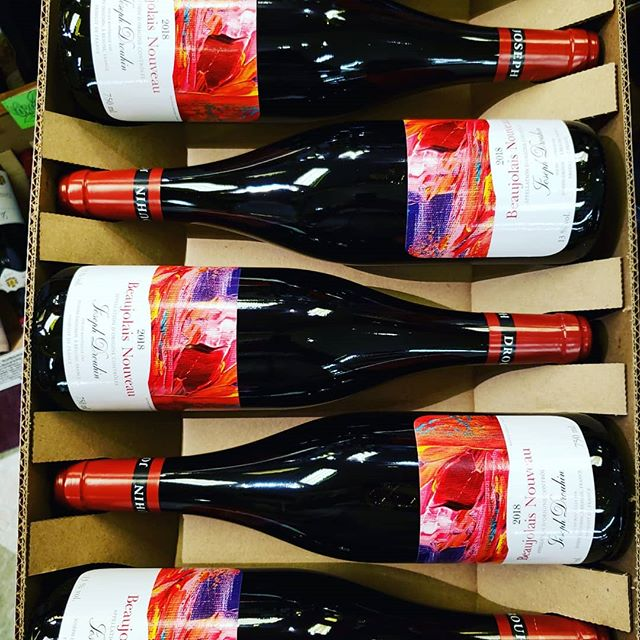 It's #beaujolaisnouveau day! The first wine of the French wine harvest is now available! @maisonjosephdrouhin…