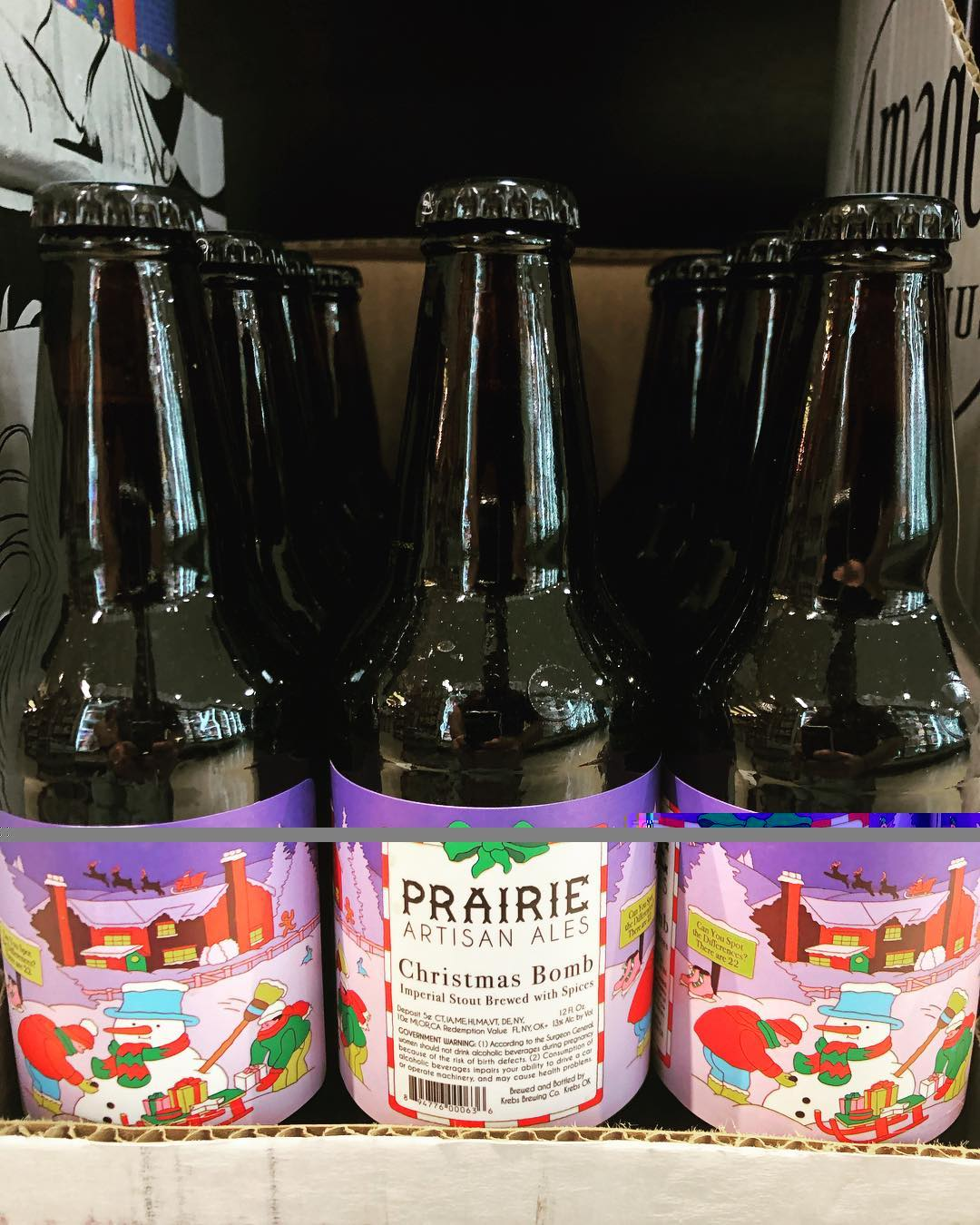 @prairieales 2018 Christmas Bomb is now in stock at our Perkins Rd location! #beer #bomb…