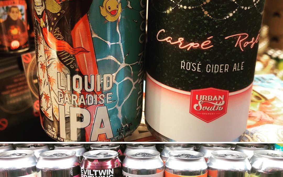 Few new brews now in stock at our Perkins Rd location! @urbansouthbeer @newbelgium @eviltwinbrewing #beer…