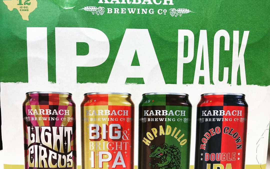 @karbachbrewing IPA variety pack featuring 3 never before released IPAs in the Baton Rouge market…