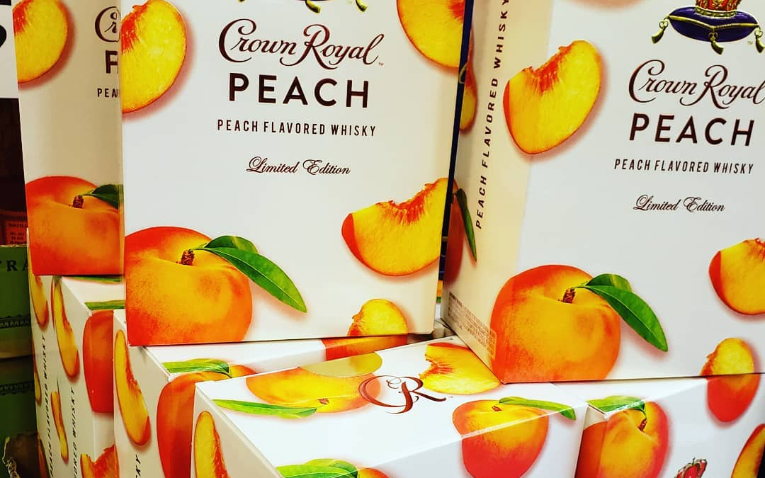 @crownroyal peach available in VERY limited quantities! Grab some while you can!! #calandros #calandrosmkt #shoplocal…