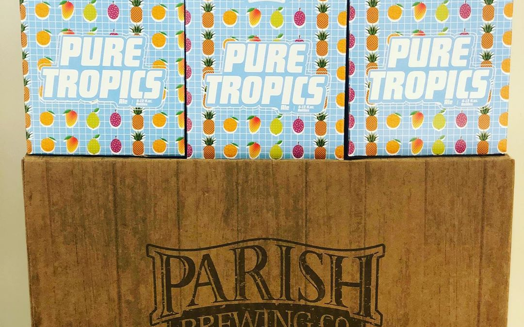 @parishbrewingco Pure Tropics is now in stock at our Perkins Rd location! #beer #drinklocal #freshhops…