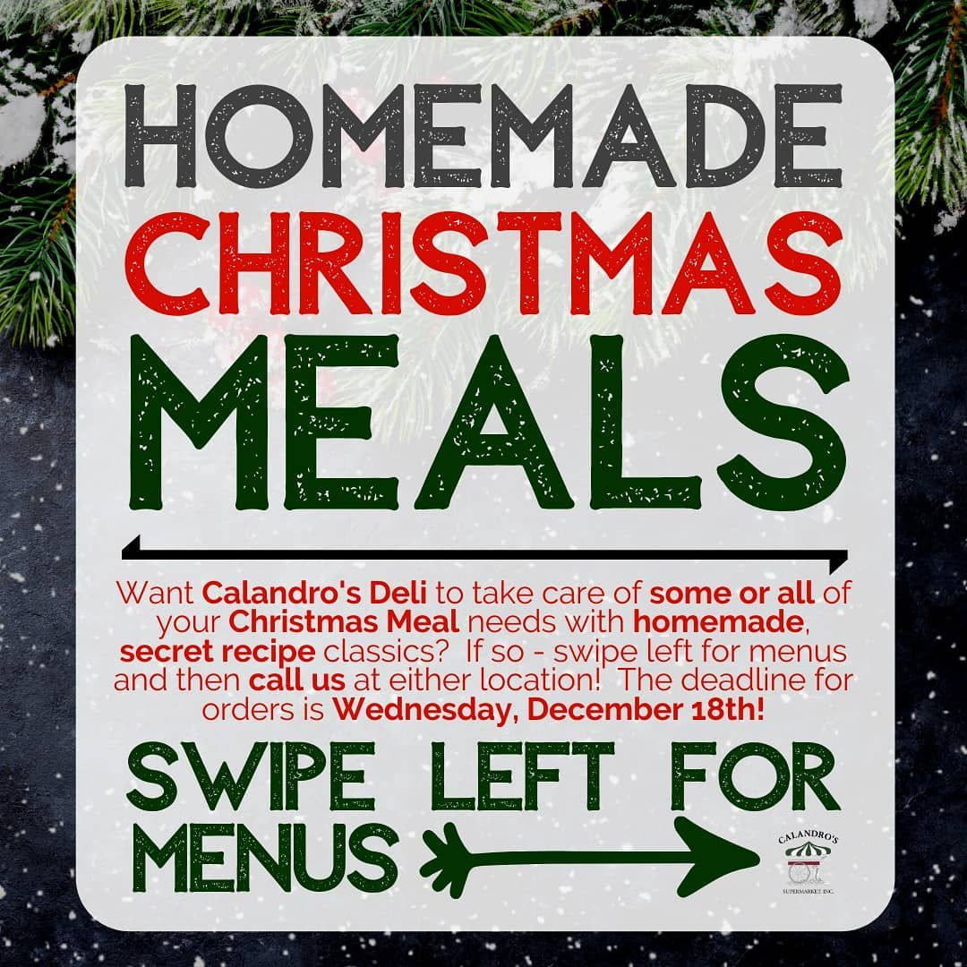 If you want a little help with your Christmas meals (or maybe ALL the help…