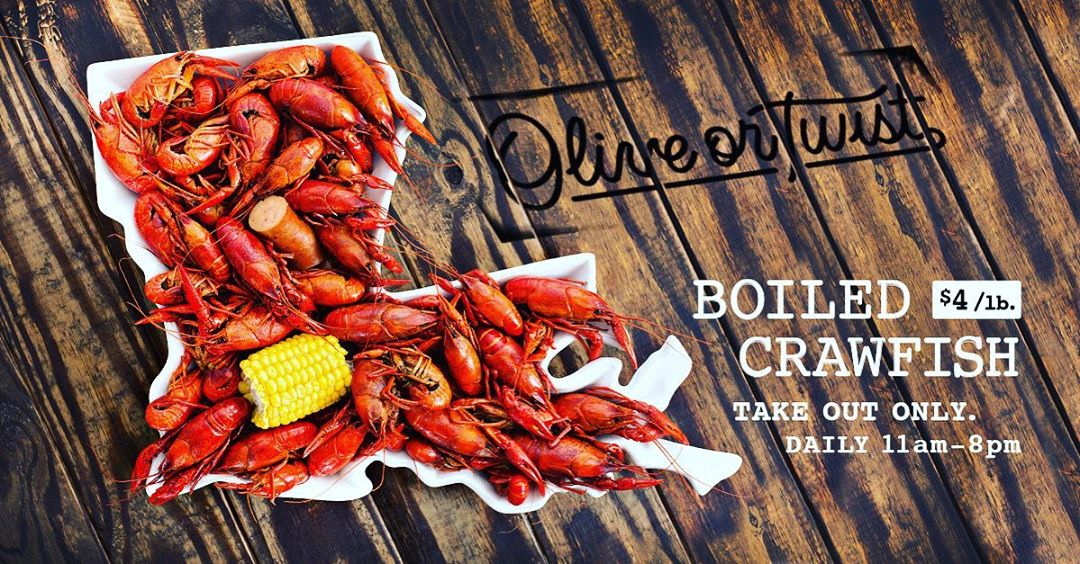Go by our friends at @oliveortwistbr and scoop up some delicious crawfish… they'll be slinging…