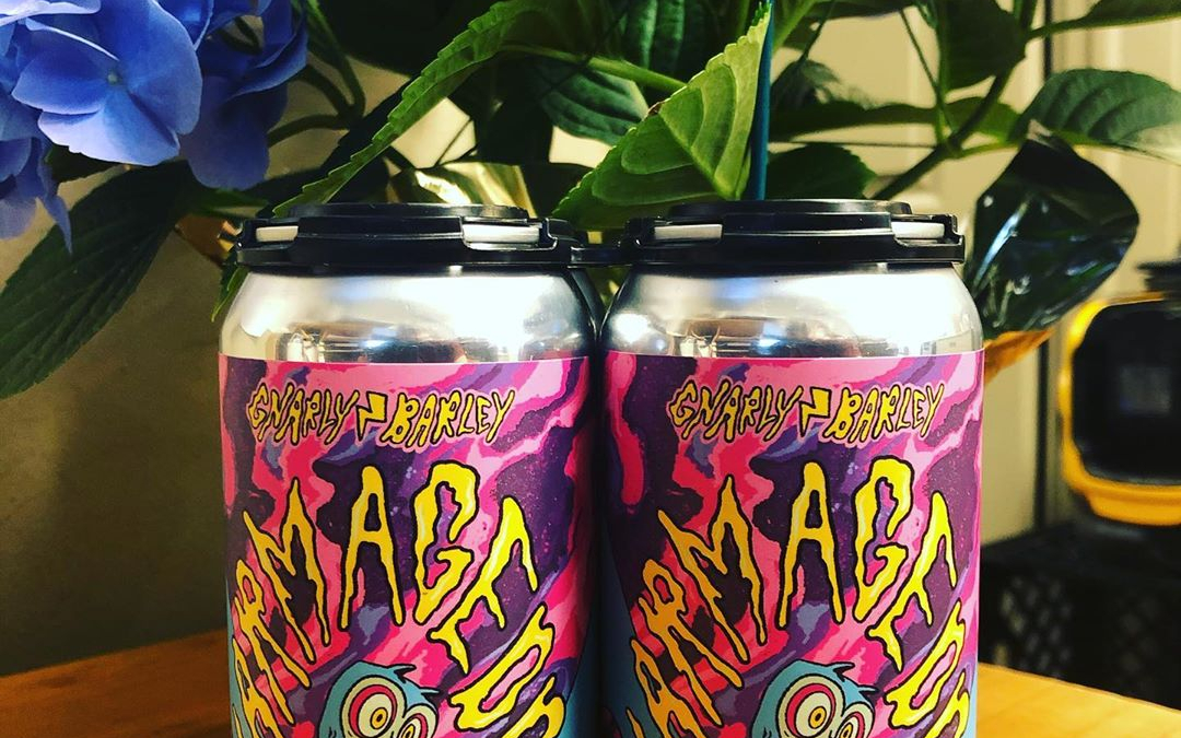@gnarlybarley Gnarmageddon DIPA is now available at our Perkins Rd location! #beer #drinklocal #freshhops #haze