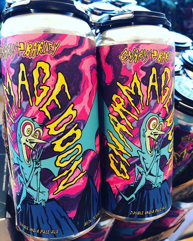 @gnarlybarley Gnarmageddon is back in stock at our Perkins Rd location! #beer #drinklocal #dipa #haze