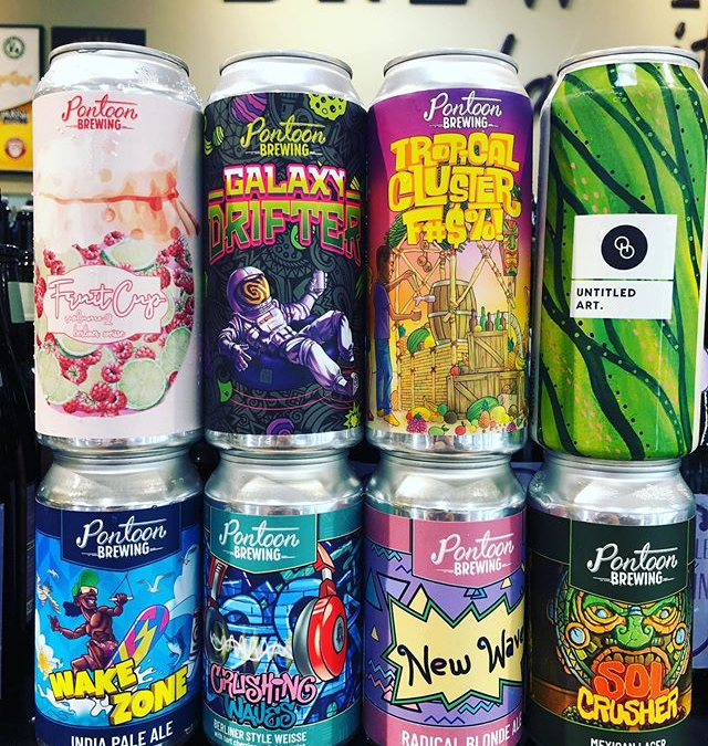 New brews now in stock at our Perkins Rd location! @pontoonbrewing @untitledartbev @otherhalfnyc #newbrews #haze…