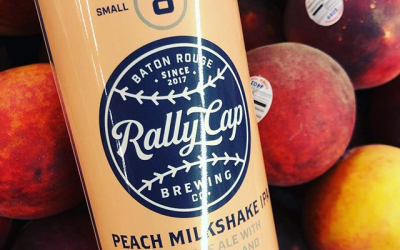 @rallycapbrewing Peach Milkshake IPA is now available at our Perkins Rd location! 🍑 🥛 #drinklocal…